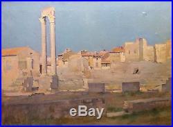 Louis Sainturier, Ruines romaines d'Arles, huile sur toile, début XX, Nîmes (v)