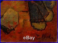 Louis TOFFOLI Le Homard Breton HUILE SUR toile SIGNEE de 1952 # 50 x 65 cm