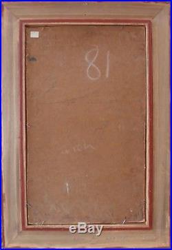 Louis TOFFOLI VIEILLE RUE A IBDES HUILE SUR TOILE SIGNEE # 55 x 33 cm +Cadre