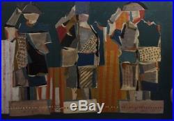 Louttre. Le plumage de la garde Datée 1962. Huile sur toile. V 451