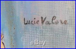 Lucie VALORE (1878-1965) huile sur toile La Ballerine v790