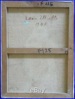 Lucie VALORE (UTRILLO) (1878-1965) huile / toile, Elegante devant un lac v788