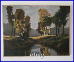 Lucien Peri (1880-1948) peintre Corse. Huile sur toile 50x65