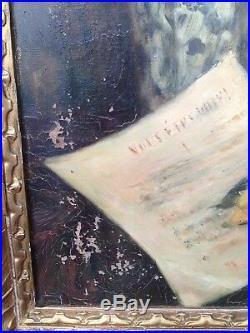 MARCEL ARNAUD (1877 -1956) HST 61 38 cm Nature Morte Bouquet Fleurs Cézanne