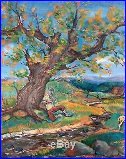 Magnifique Toile Huile tableau Paul COLLOMB Peinture 73X54 1959 (Artprice.)