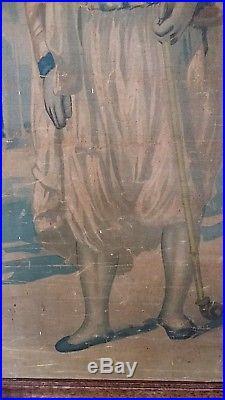 Magnifique peinture orientaliste huile sur toile rouleau signée XIXème Ottoman