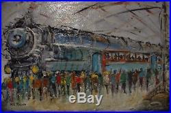 Magnifique tableau Peinture huile sur toile impressionniste Signée et Datée
