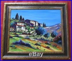Magnifique tableau de 1998 par ALAIN MOREAU rép artprice village provencal