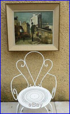 Marcel Masson 1911-1988. Montmartre 1940 La Rue Saint-vincent. Grande Toile