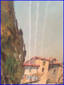 Marius HUBERT-ROBERT Nice Peinture HST Provence Huile sur Toile Impressionniste