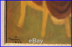 Maurice SAVIN Buveurs en plein air huile sur toile signée et datée de 1962