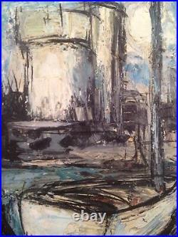Maurice VERDIER (1919-2003) Marine Pays Basque Port Socoa Huile sur toile signée