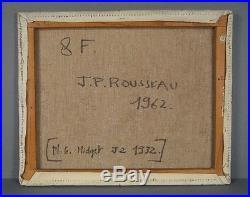 Mg Midget J2 1932 Huile Sur Toile Signée Jean Pierre Rousseau / Rousseau Peintre