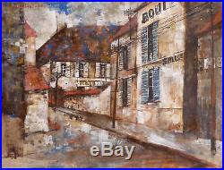 Michel DE GALLARD (1921-07) Gouache 1960 Jeune Peinture Nouvelle Ecole de Paris