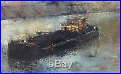 Michel DE GALLARD (1921-2007) HsT Années 60 Jeune Peinture Nle Ecole de Paris
