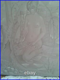 Michel VIOT XXème NU AU GRAND MUR Huile sur toile signée