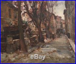 Montagne(montagné) Louis Agricol 1879-1960 rue des teinturiers Huile/toile v131