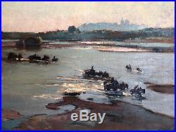 Montagne(montagné) Louis Agricol (1879-1960) tireurs de sable Huile/toile v129