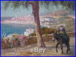 Noël Béraud, vers 1900 la Route de Menton, HST, Bouvard, Aldine