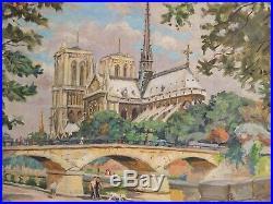 Notre Dame de Paris. Superbe tableau de Georges de Sonneville (1889-1978)