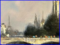 Notre-Dame de Paris et la Tour Eiffel par Michel Hertz peintre de la marine