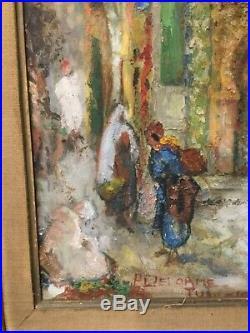 Orientaliste, huile sur toile