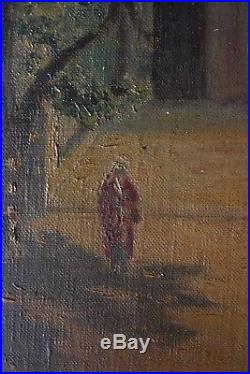 Original Peinture Orientaliste Huile sur Toile Jerusalem 19 ou début 20 siècle