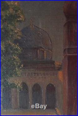 Original Peinture Orientaliste Huile sur Toile Jerusalem début 20E siècle