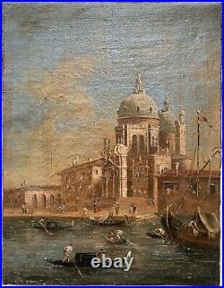 PEINTURE À LHUILE SUR TOILE ANTIQUE VENISE XVIIIe/XIXe siècle