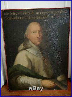 PEINTURE À L'HUILE SUR TOILE ÉPOQUE XVIIIè PORTRAIT DE RELIGIEUX RELIGIOSA