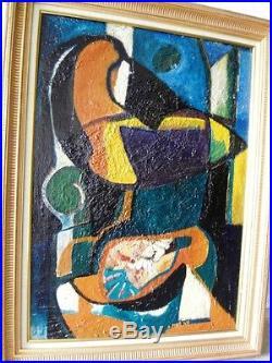 PONS Jean (1913-2005) Enclume de la chair -Composition abstraite 1947-Huile/ST