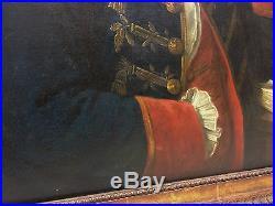 PORTRAIT AMIRAL 18 ème attribué à Louis Michel VAN LOO peinture française