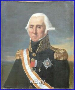PORTRAIT MILITAIRE GENERAL 3 ETOILE ROYAUME DE PRUSSE de la RESTAURATION (1815)