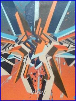 PRYME-TPN (UK) Sumarain graffiti sur toile 50x60 cm + COA /cope2/seen/peeta