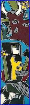 Patricia Kleyman Tableau Unique 73cmx60 Picasso rêvait d'un Monde en Paix