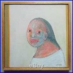 Peinture Abraham Hadad Femme signée 30 x 30 titré huile sur toile 2009