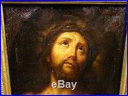 Peinture Ancienne HST début XVIIIe Jesus Christ Ecce Homo Italian School