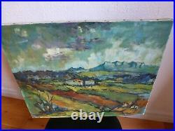 Peinture Hst Paysage Sud De La France Signe A Identifier Annees 50 60