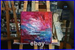 Peinture, Huile sur toile, Paysage abstrait, Tableau de Hélène Zenatti NUÉES
