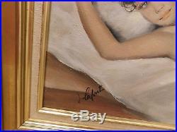 Peinture Sur Toile Nu Signe Lafont