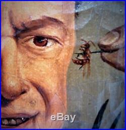 Peinture XIXe sur toile l'entomologiste Labatut Rèf/A/24/17