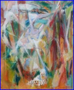 Peinture à l'huile sur toile, Paysage signé Josette Zenatti (1930-2008) BRANCHES