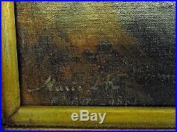 Peinture ancienne-jeune espagnole-orientaliste signée datée 1881 à identifier
