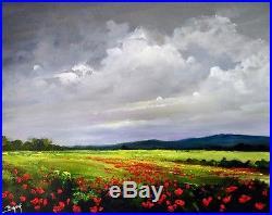 Peinture au couteau Paysage de Provence Lanscape painting Artiste Eric BRUNI