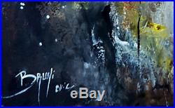 Peinture au couteau coquelicots modernes Contemporary art Artiste Eric BRUNI