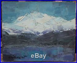 Peinture de montagne, Françoise Vincent née en 1933