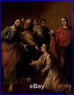 Peinture du XVIIIème. Noli me tangere. Huile sur toile