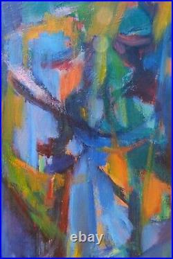 Peinture, huile sur toile Paysage de Josette Zenatti (1930-2008) BRANCHES DE PIN