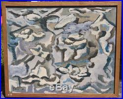 Peinture huile sur toile Rochers et Cailloux (1961) Jean-Claude Forquin
