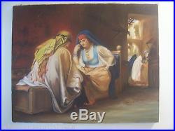 Peinture huile sur toile orientaliste